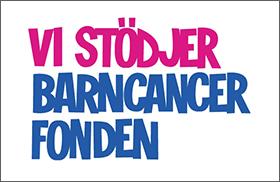 Vi stödjer Barncancerfonden!